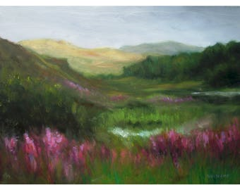 oil painting // scottish landscape // artistic work of art // hand-painted impressionism art