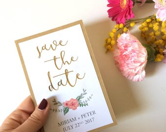 Participation/Save the date • with rolled Gold