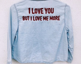 The Valentines Cropped Chambray Button Up