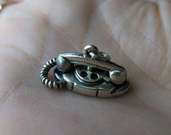Vintage Beau Sterling Silver Rotary Phone Charm