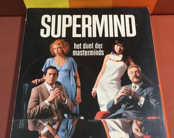 Vintage Supermind Clipper Game 70s For Two Players With Game Rules
