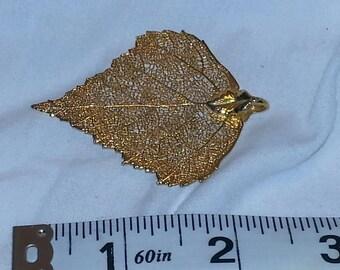 VINTAGE: GOLD Leaf Pendant