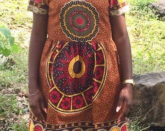 African fabric dress african print dress ankara dress wax print dress women's dress african wax dress