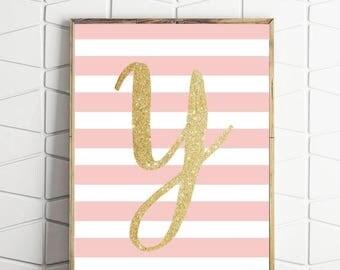 70% OFF SALE letter Y artwork, letter Y print, initial print, nursery artwork, monogram print, Y wall art print, letter print