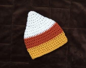 Newborn Candy Corn Hat, Baby Candy Corn Hat, Candy Corn Hat, Candy Corn Crochet Hat