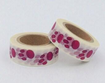 Masking Tape Washi Tape marks paws purple gift box fun kawaii decoration wedding scrapbooking