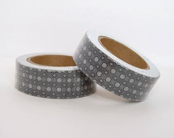 masking tape black and white architectural motifs - Christmas gift - packaging - decoration - wedding