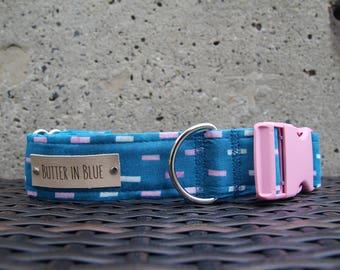 Blue Bricks Dog Collars
