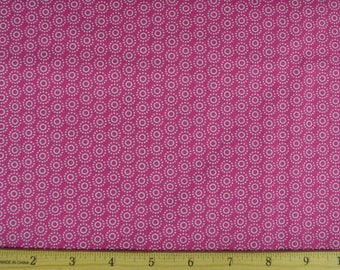 Dotted Circles in Pink- 100% Cotton