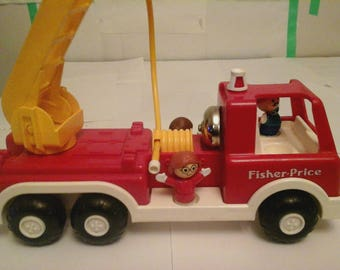 Vintage 1988 Fisher Price Fire Truck #2361