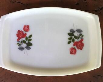 Vintage Pyrex JAJ Serving Platter - June Rose