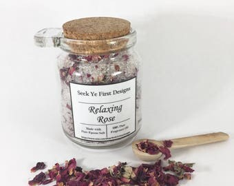 Organic Relaxing Rose Bath Salts