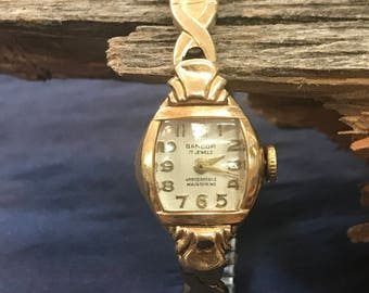 Ladies 1960's Gold Watch with Band