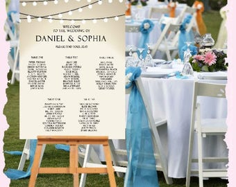 PRINTED Wedding Welcome Sign Customize Names of Bride & Groom Date Ready To Use Reception Ceremony Engagement Sign XLARGE Chalkboard Elegant