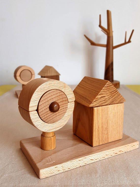 La maison et l 39 arbre bois naturel mastro jouets for Arbre maison jouet