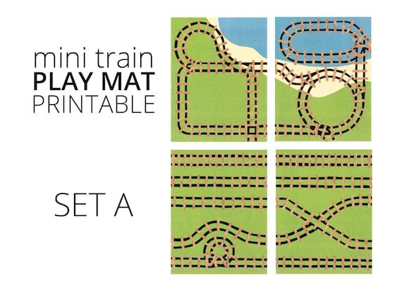 Mini Train Printable Play Mat Set A Travel Train Toy And