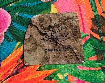 Natural Stone Coaster - Canada 150