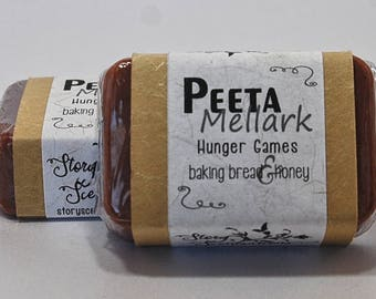 Peeta Mellark Hunger Games Glycerin Soap Bar - Handmade Custom Book Character Scent, Fragrance