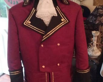 Captain  Coat / Pirate Costume  (size 38)
