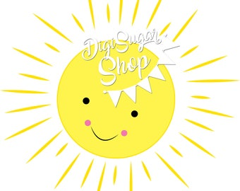 Sunshine - Single clipart image - PNG/Vector Image - Instant Download