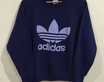 Rare!!! Vintage Adidas Sweatshirt MADE IN USA Adidas Big Logo Spellout Pullover Jumper Sweater Hip Hop Swag Sportwear