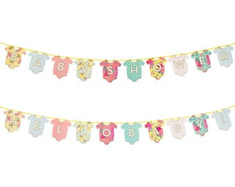 Hello Baby Shower Garland / New arrival / Gender reveal party/ Oh baby