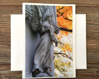 Angel Greeting Card blank A6 photo note card with matching envelope original photography print paper stationary all occasion sympathy card