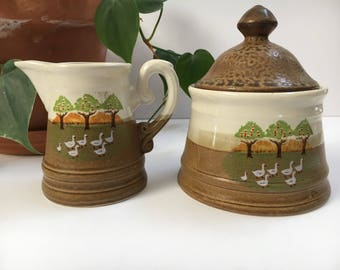 Duck sugar and creamer set