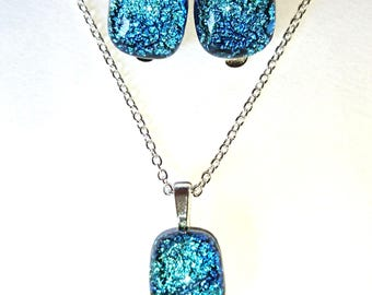 Pendant glass fusing Dichroic Glass clips