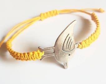 Bird braid bracelet