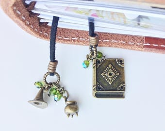 Travelers Notebook Accessories, Travelers Notebook, Witch, Planner Charms, Travelers Notebook Charm, Bookmark, Travelers Notebook Bookmark
