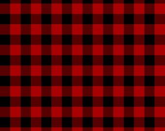 Buffalo Plaid Pattern - Choose: Oracal Permanent, Wall, Glitter or SISER HTV Digitally Printed. Works with all cutting machines!  Red