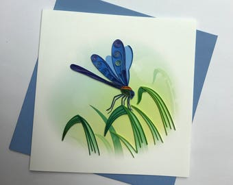 Dragonfly Quilling Greeting Card
