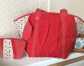 Handmade Beach bag with purse