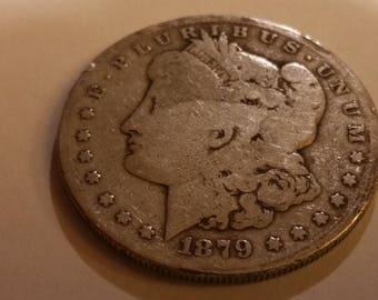 1879S Morgan Silver dollar  #A481