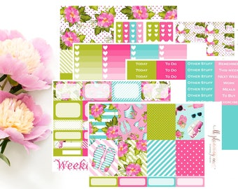 Tropical Summer: Weekly Planner Sticker Kit