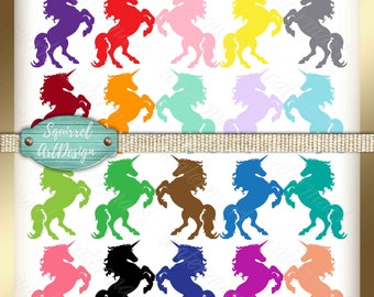 Unicorn party clip art Silhouettes unicorn clip art Unicorn clipart Unicorn PNG silhouettes Unicorn digital clipart Unicorn digital clip art