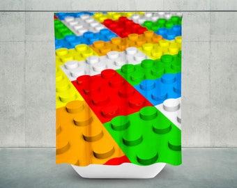 Beautiful Lego Bath Shower Curtain | Lego Bathroom Decor | Lego Bath Decor | Lego  Shower Decor