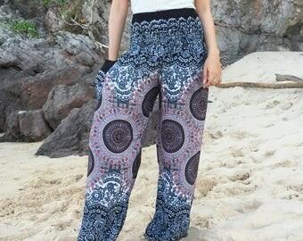 Blue Harem Pants,Harem Pants Women,Yoga Pants,Aladdin Pants,Festival Pants,Boho Pants,Gypsy Pants,Gennie Pants,Hippie Pants,Bohemian Pants.