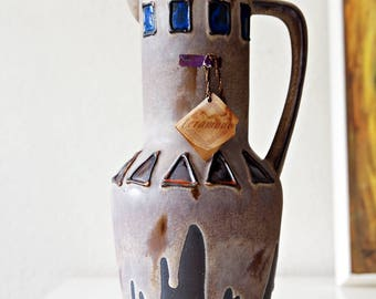 Vintage (sixties) West Germany  pitcher / vase by Cermano, decor El Paso