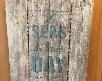 Nautical wall hanging, beach  theme decor, beach decor, beach house decor, rustic decor, ocean inspired, beach cottage, New England charm