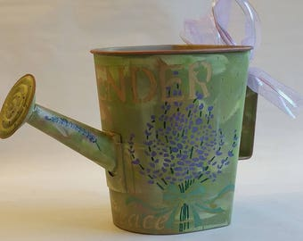 "Large Watering Can Planter ""LAVENDER 2"" from the HERBORISTE collection"