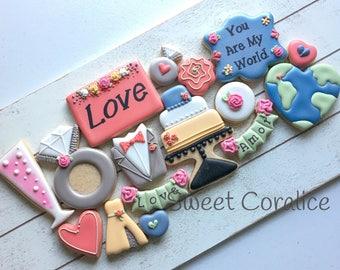 Wedding Anniversary (Engagement) Custom Cookies