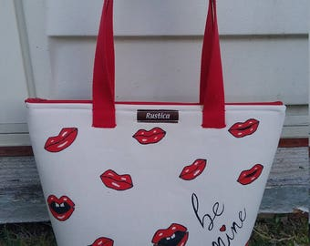 "Tote ""be mine""valentine bag"