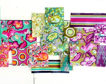 Custom Listing for Ashley Moonstone Quilt Kit featuring Chipper by Tula Pink English Paper Piecing EPP