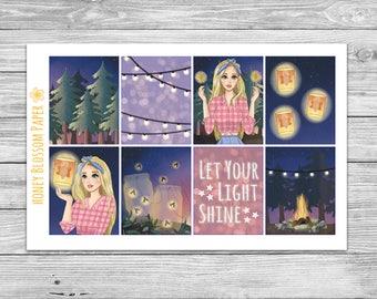 Summer Lights Decorative Full Box Planner Stickers
