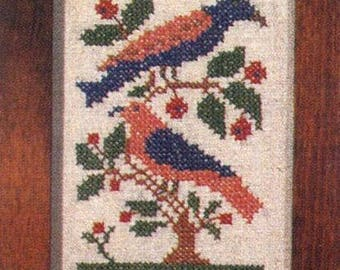 Folk Birds Stamped Sampler Kit by Country Stitches