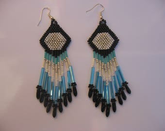 Fringe earrings native american Country Western native Americans Comanches