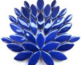 Petal Ceramic Mosaic Tiles - Indigo - 50g (approx. 50 petals) (1.75 oz)