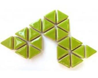 Triangle Ceramic Mosaic Tiles - Kiwi - 50g (1.75 oz)